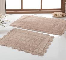 """Набор ковриков для ванной """"KARNA"""" кружевной EVORA 60x100 + 50x70 cm"""