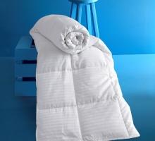"""Одеяло """"KARNA"""" сатин полосатый VIA (155x215) см"""