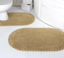 """Набор ковриков для ванной """"MODALIN"""" кружевной PRIOR 60x100 + 50x50 см 1/2"""