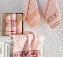 """Кухонные полотенца махровые """"KARNA"""" жаккард BUTTERFLY 30x50 см 1/3"""