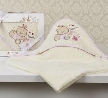 """Полотенце-конверт """"KARNA"""" детский BAMBINO-BEAR 90x90 1/1"""