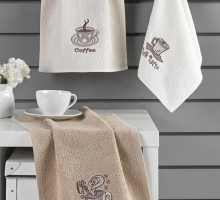 "Кухонные полотенца махровое ""KARNA"" CAFE PRIMA 30х50 см 1/3"